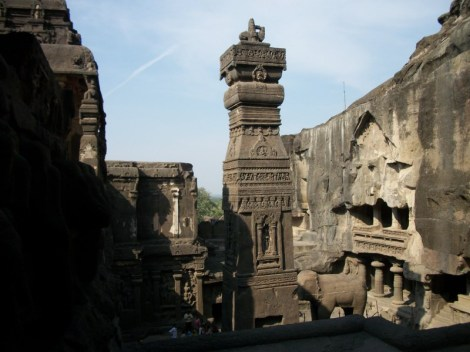 Cave 16 (Kailasa) in Ellora was entirely carved out of one single rock